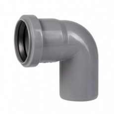Угол для внутренней канализации 50 х 90° Wavin