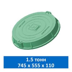 Люк легкий канализационный 1.5 т Сандкор зеленый