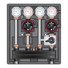 Насосно-смесительный модуль Kombimix UK/MKST Meibes с насосом Grundfos ALPHA2L 15-60