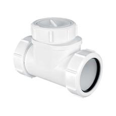 Обратный клапан для канализации McALPINE 50 мм
