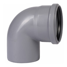 Угол для внутренней канализации 110 х 90° Wavin