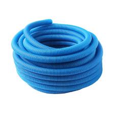 Труба гофрированная (пешель) 18 мм х бухта 50 м, синяя, РБ