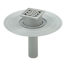 Трап для балкона прямой регулируемый DN100 решетка нерж. 100 х 100 мм Advantix Viega