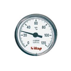"""Термометр осевой 1/2"""" х 40 мм Itap 493 (120°С)"""
