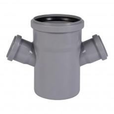Крестовина для внутренней канализации 110 х 50 х 50 х 67° Wavin
