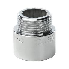 """Удлинитель латунный 1"""" 20 мм хромированный General Fitings"""