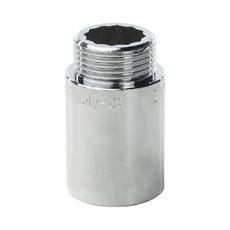 """Удлинитель латунный 1"""" 40 мм хромированный General Fitings"""