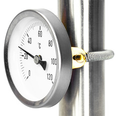 Термометр накладной для отопления 60 мм до 120° С с пружиной Afriso