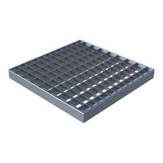 Решетка дождеприемника Basic 400 x 400 мм оцинкованная сталь ячеистая Standartpark