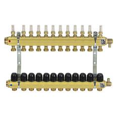Коллектор латунный для теплого пола на 12 контуров Afriso