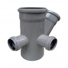 Крестовина канализационная двухплоскостная Ростурпласт 110 х 110 х 45° х 50 мм (левая+тыл)