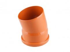 Колено для наружной канализации 110х15 РосТурПласт