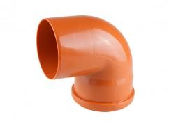Колено для наружной канализации 110х90 РосТурПласт