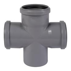 Крестовина для внутренней канализации 110 х 110 х 110 х 90° Wavin