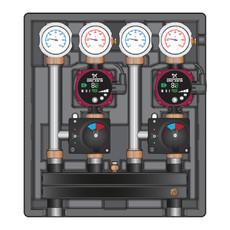 Насосно-смесительный модуль Meibes Kombimix MKSTM/MKSTM с насосом Grundfos UPSO 15-65