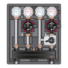 Насосно-смесительный модуль Kombimix UK/MKST Meibes с насосом Grundfos UPSO 15-65