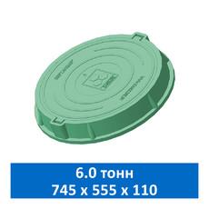 Люк средний канализационный 6.0 т Сандкор зеленый