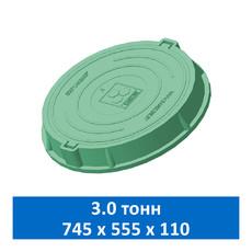 Люк легкий канализационный 3.0 т Сандкор зеленый
