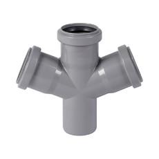 Крестовина для внутренней канализации 50 х 50 х 50 х 67° Wavin