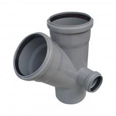 Крестовина канализационная двухплоскостная Ростурпласт 110 х 110 х 45° х 50 мм (правая)