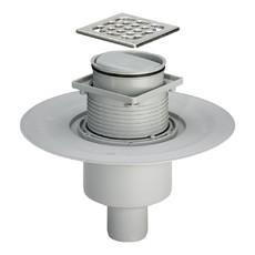 Трап для ванной комнаты прямой регулируемый DN50 решетка нерж. 100 х 100 мм Advantix Viega