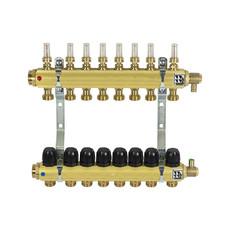 Коллектор латунный для теплого пола на 8 контуров Afriso