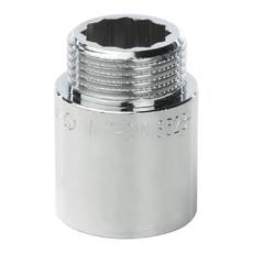 """Удлинитель латунный 1"""" 30 мм хромированный General Fitings"""
