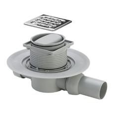 Трап для ванной комнаты угловой регулируемый DN50 решетка нерж. 100 х 100 мм Advantix Viega с сухим затвором